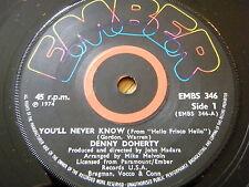 """Denny Doherty-que nunca se sabe Vinilo De 7"""""""