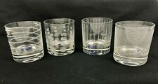 Mikasa Glassware Etched Glasses Double Old Fashioned Set Of 4 New