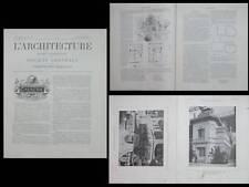 L'ARCHITECTURE N°28 1900 - MOET ET CHANDON, PALAIS DU CHAMPAGNE, FRANTZ JOURDAIN