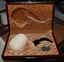 meerschaum pipe in box,carved DRAGON ,imppipes   s7