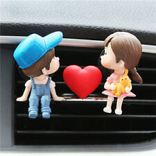 Couple Lovely Girl Boy Car Air Vent Freshener Perfume Clip Aromas Diffuser Decor