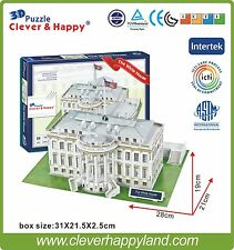 Clever&Happy 3D Puzzle Model   The White House Educational Toys Paper Diy
