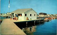 Dewey Beach Delaware Wilsons Pier Marina Sussex 1950s Postcard
