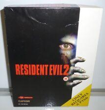 RESIDENT EVIL 2  UK PC  CAPCOM  BIG CARTON BOX VINTAGE 1998 HORROR BOXED