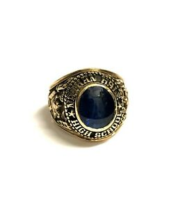"""10k Yellow Gold Raiders 1969 """"Nathan Hale"""" College Ring"""