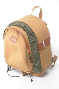 Billingham 25 Rucksack Backpack Camera Bag in Khaki with Tan Leather