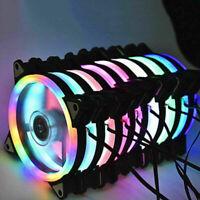 LED Cooling Fan RGB 12cm DC 12V Brushless Cooler For Computer Case PC CPU EB