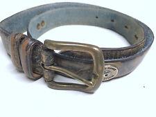 """Mossy Oak Camo Size 26 Hunting Brass Buckle Leather Belt 1"""" Wide"""