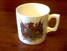 Vintage 1902 King Edward VII & Queen Alexandra Coronation Commemorative Mug
