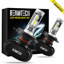 H4 9003 HB2 LED Headlight Bulbs High Low Beam 50W 6500K White CSP Fanless