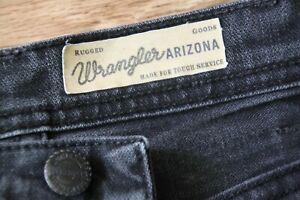 Mens WRANGLER ARIZONA Stretch Classic Straight Fit Grey Jeans Size W31 L32
