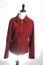 Atelier REAL Suede Red Leather Jacket Coat Bomber M Motorcycle Nordstrom Boho