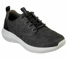 Canvas Skechers Extra Wide Fit Black Shoes Mens Memory Foam Casual Comfort 66005
