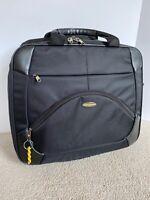 Samsonite 1910 Black Luggage Suitcase Travel Retractable Handle Wheel Rolling