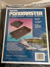"""Foam Filter Media Pad Pondmaster 1000 2000 Danner Pond Supreme 11-3/4"""" 2 Pack"""