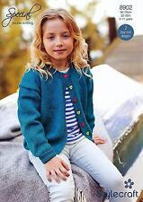 Stylecraft 8902 Knitting Pattern Childrens Cardigans in Stylecraft Special DK