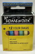 48 Pcs Colored Chalks 4-12 Count Boxes Assorted Colors Chalkboard Uchi Homework