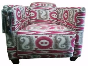 Upholstered Fabric Armchair Lazboy Occasional Low Back Multi Color Bedroom Decor