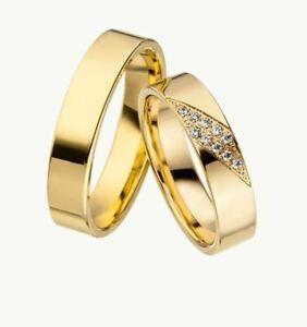 Linder Trauringe 897 - Gelbgold 333 - Damenring mit Steinen