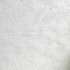RD03010 Anaglypta Wallcovering Luxury Textured Vinyl Ranworth White Wallpaper