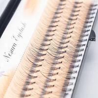 Natural 3D Long Fake Black Eye Lashes Handmade Thick False Eyelashes Makeup NEW