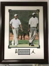 Framed MICHAEL JORDAN & TIGER WOODS 11x14 Golf Basketball Photo Matted 19x23