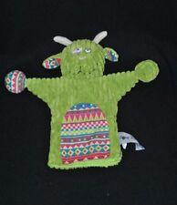 Peluche doudou vache marionnette CORA Globe Trotoys vert NEUF