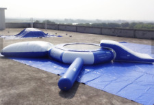 30x20 Commercial Inflatable Water Slide Trampoline Floating Course Bounce House