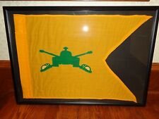 "Yellow & Green Military Artillery Pennant, Flag, Banner, 28-1/2"" x 19-3/4"""