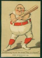 1880's Victorian Trade Card, H804-7, 20, Gargling Oil, Something Must Be Done...
