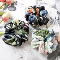 Spring Flower Hair Scrunchie Ponytail Holder Hair Ties Rope Elastic Hair Band Nd