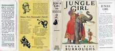 Scanned Dust Jacket - The Jungle Girl  Edgar Rice Burroughs 1930s G&D