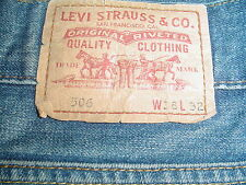 Levi 506 Jeans 38 x 32 with Well Worn Holed Heels