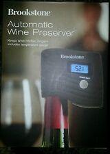 NEW Brookstone Automatic Wine Preserver + Temperature Gauge 710962