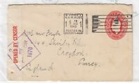 Australia 1943 2 1/2d Pre-paid Cover To Croydon Censored X8871