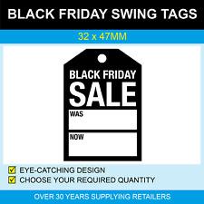 32 x 47mm Swing Tags - Black Friday