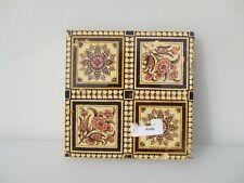 Antique Ceramic Tile Vintage Floral Flower Flowers Art Nouveau Old Vintage