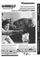 Panasonic PV-V4640 PV-V4660 VCR Owners Instruction Manual