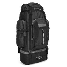 FLYGEAR 120L CAMPING HIKER TRAVEL EXTRA LARGE RUCKSACK HIKING BACKPACK BLACK