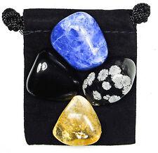 MENTAL REPROGRAMMING Tumbled Crystal Healing Set= 4 Stones + Pouch + Description