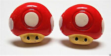 Handmade, Mario Cart Toad Resin Cufflinks Silver Plated Toggles, W/Gift Box!