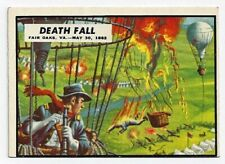 1962 TOPPS Civil War News #20 Death Fall From Observation Balloon Trading Card