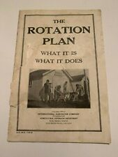 1919 International Harvester The Rotation Plan What It Is What It Does Booklet