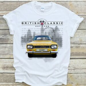 FORD ESCORT MK1 T Shirt British Classic Car 1968 Collector Gift  Premium Quality