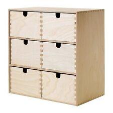 IKEA MOPPE MINI IN LEGNO sul petto di 6 Cassetti, Scatola di immagazzinaggio, gioielli, piccole parti (M)