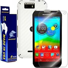 ArmorSuit MilitaryShield Motorola Photon Q 4G LTE Screen+White Carbon Fiber Skin