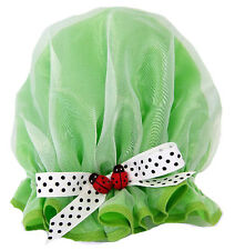 CHILDRENS   SHOWER CAP LADY BUG GREEN