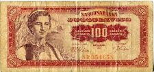 Yugoslavia 100 Dinar Dinara 1963 Communist Currency Money Banknote Tito Titovka