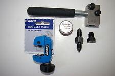 "Brake Pipe Flaring Tool 3/16"" + Boxo Mini Pipe / Tube Cutter 1/8 -1"""