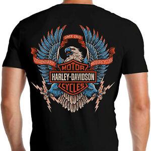 Harley-Davidsonn T-shirt Backside Eagle Motorcycle Biker Mens Gift